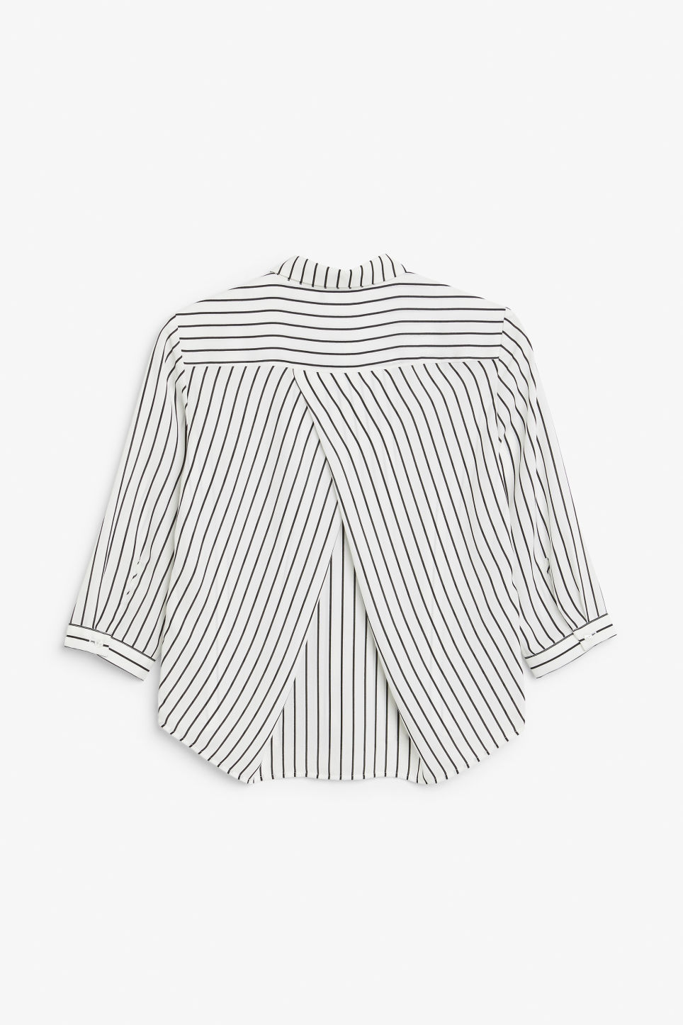 Back image of Monki button up blouse in white