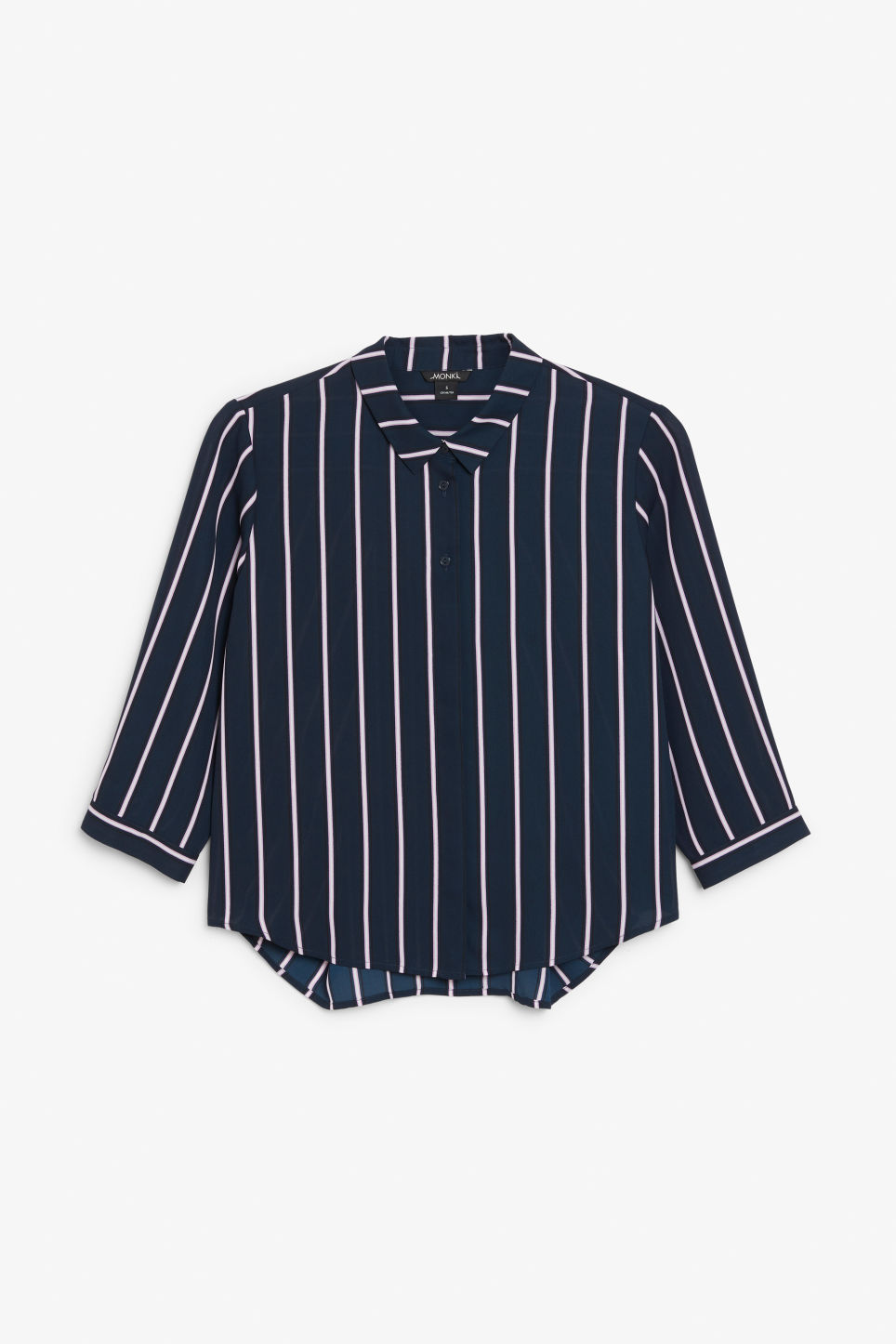 Front image of Monki button up blouse in blue