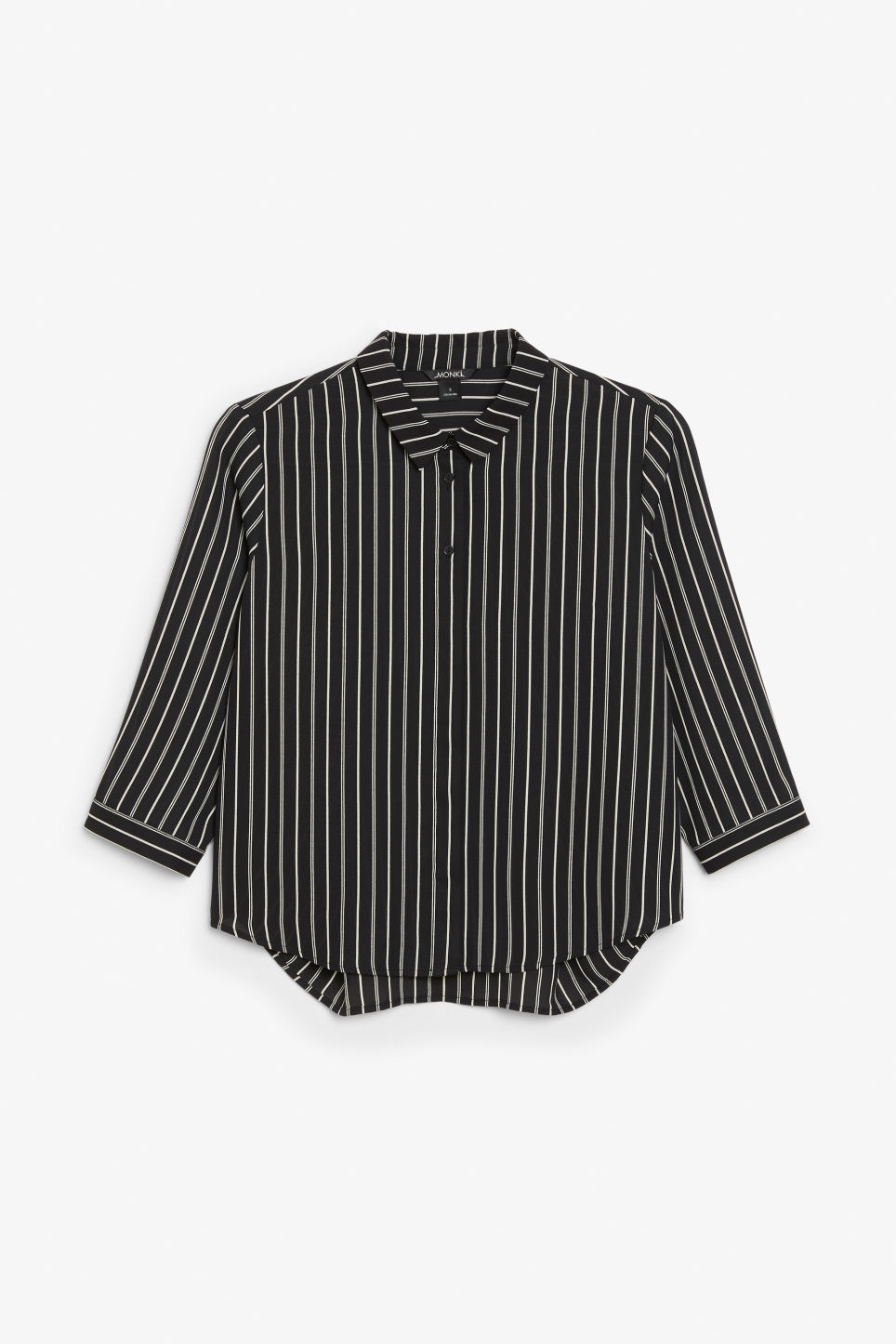 Front image of Monki button up blouse in black