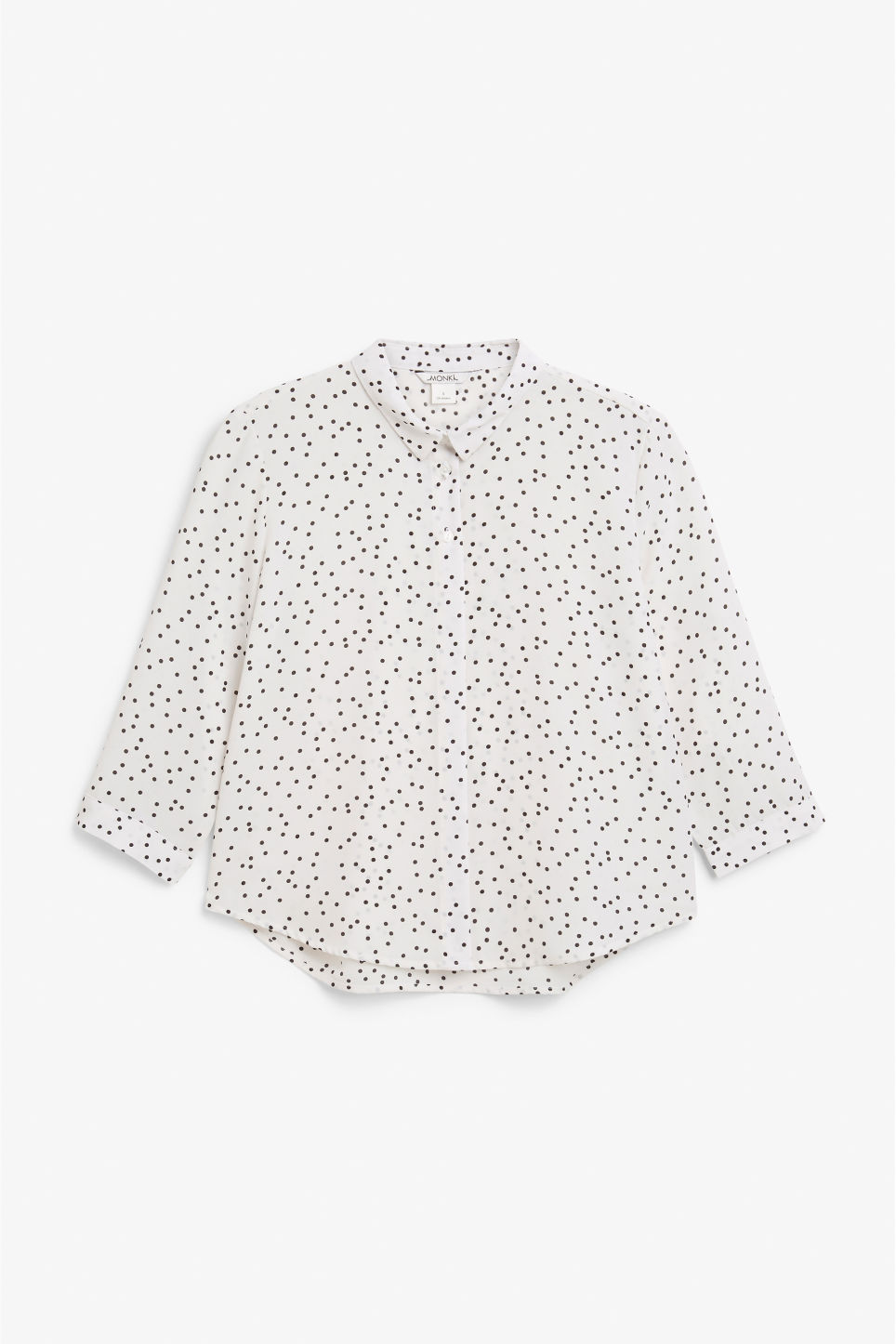Front image of Monki button up blouse in white