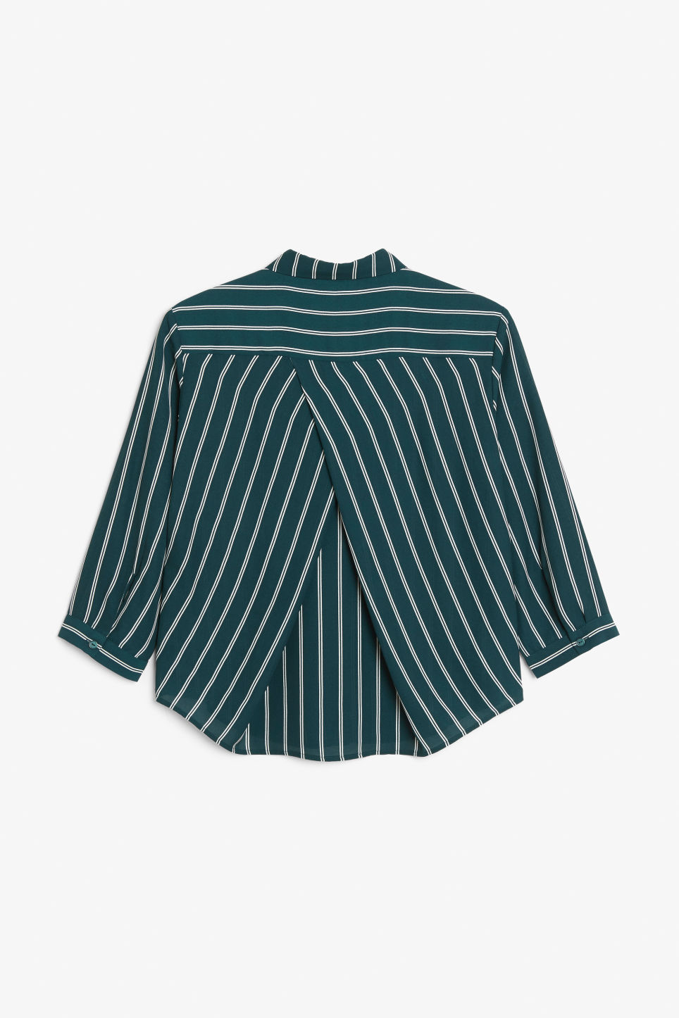Back image of Monki button up blouse in green