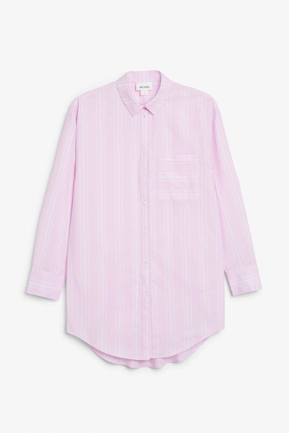 Front image of Monki oversized classic shirt in pink