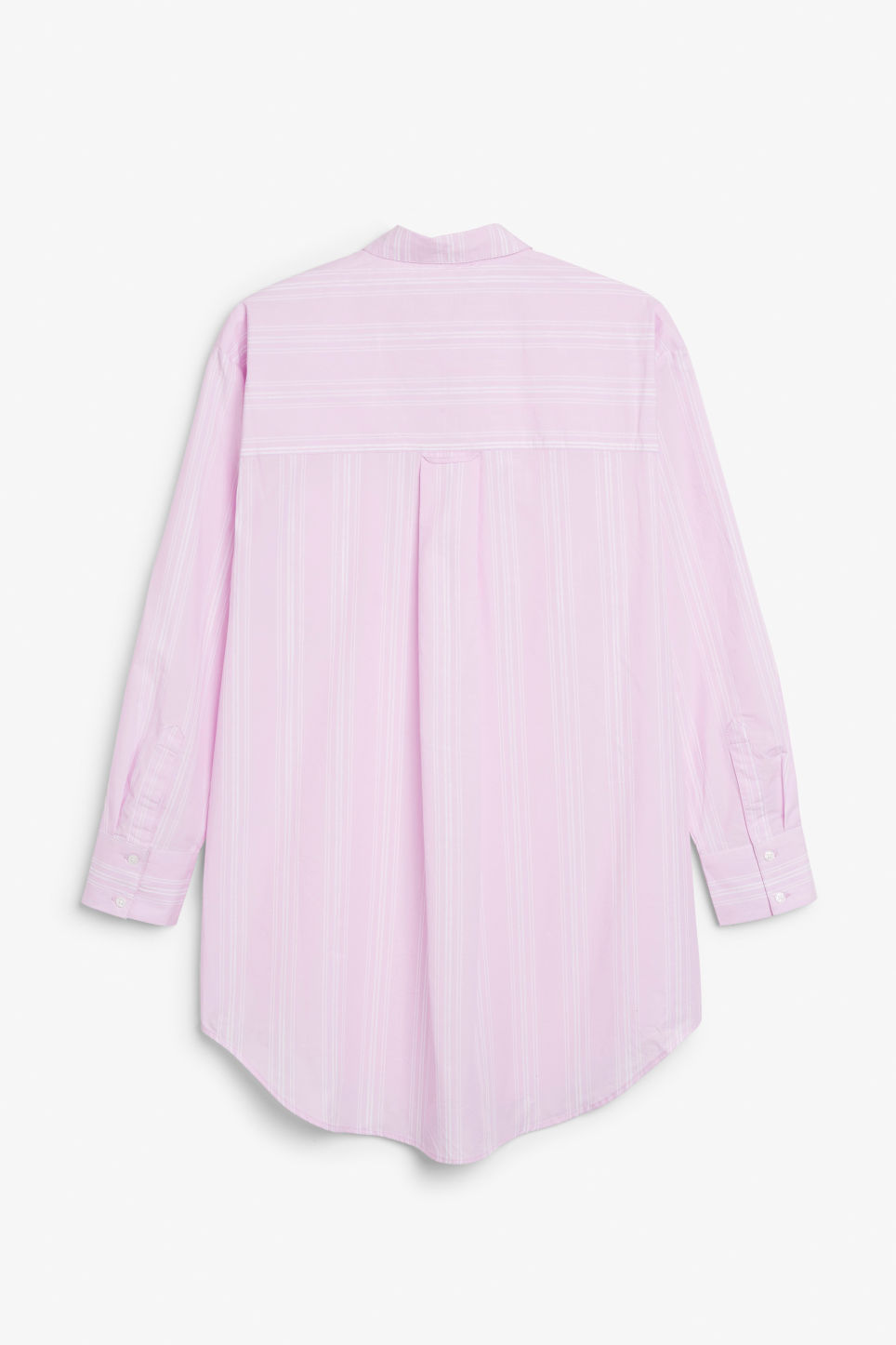 Back image of Monki oversized classic shirt in pink