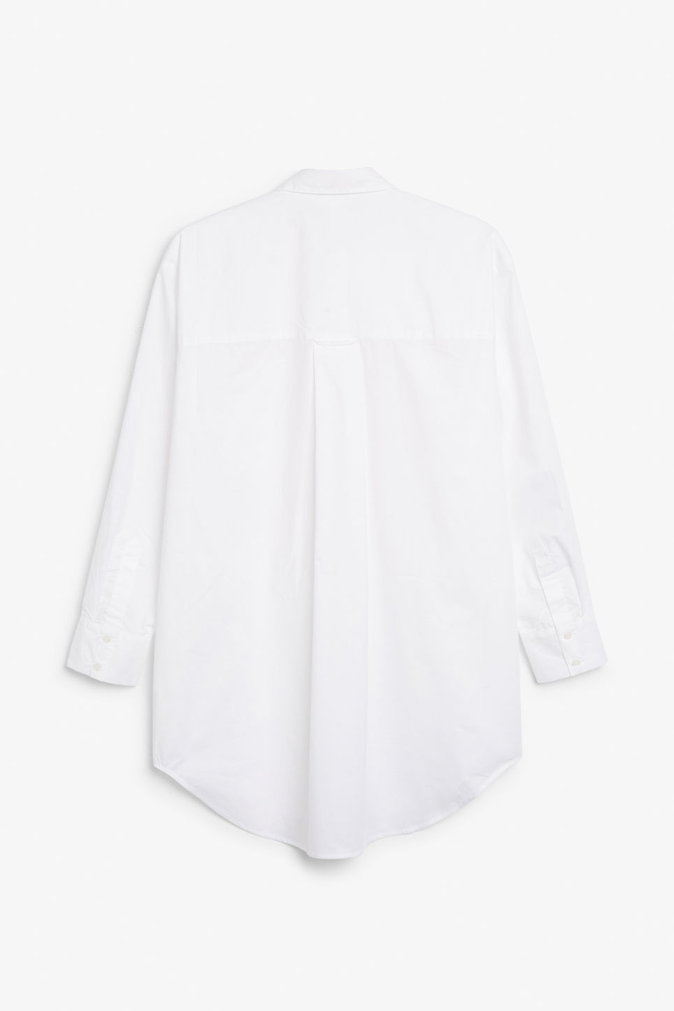 Back image of Monki oversized classic shirt in white