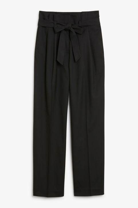 Smart trousers with tie detail