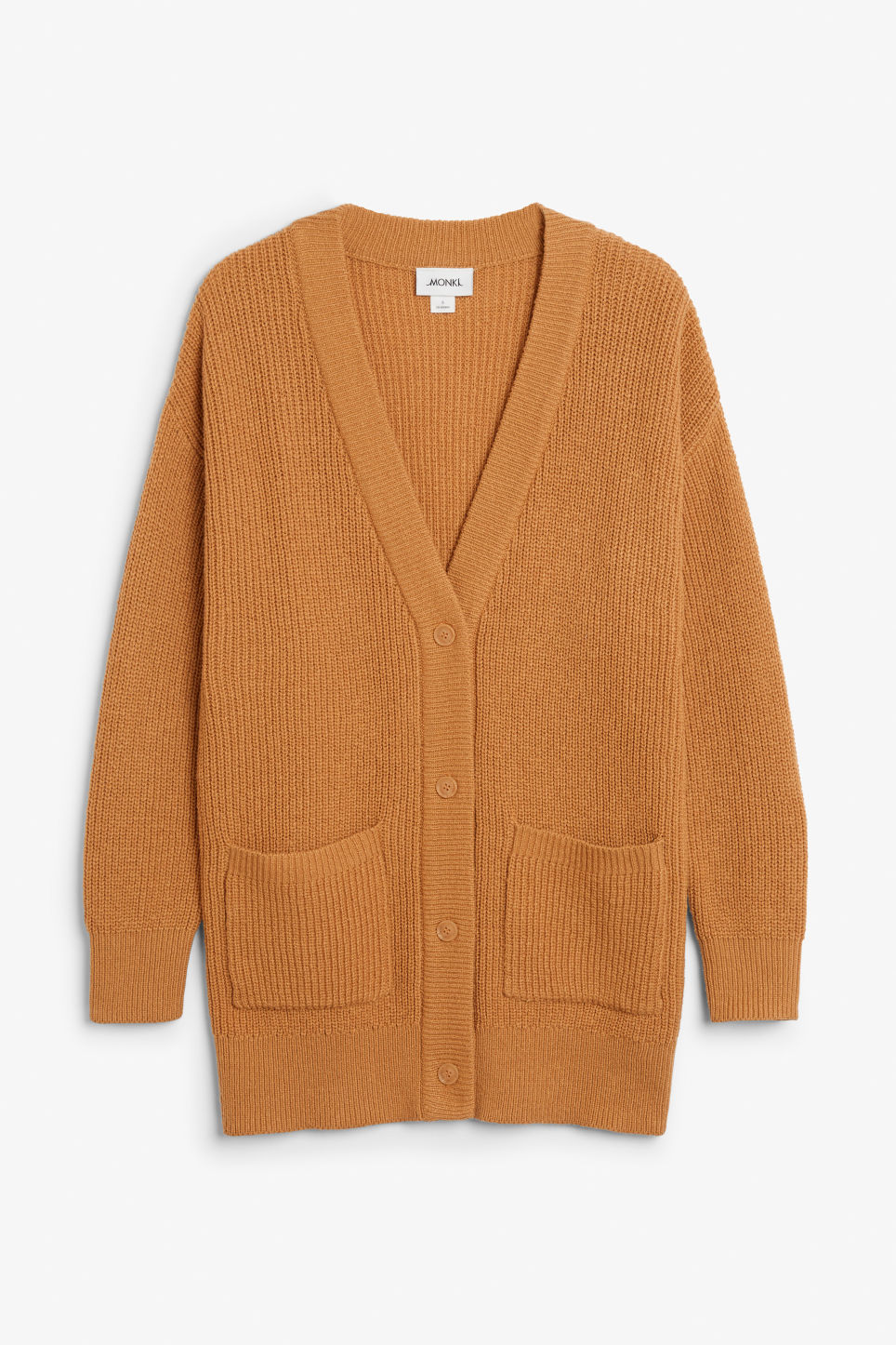 Front image of Monki oversized cardigan in yellow