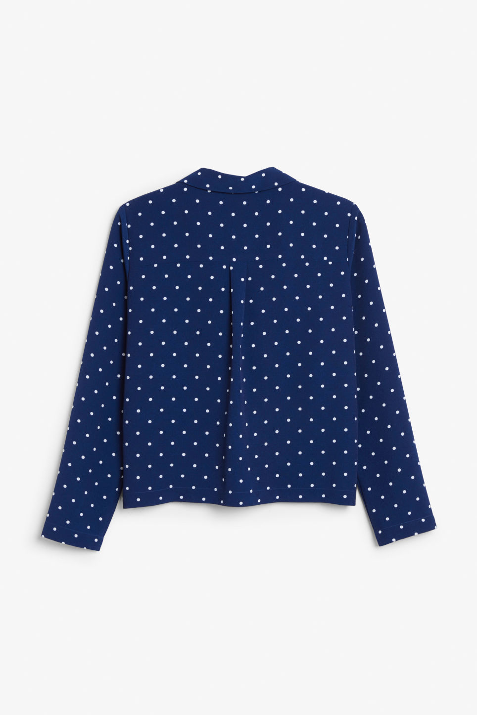 Back image of Monki double-breasted blouse in blue