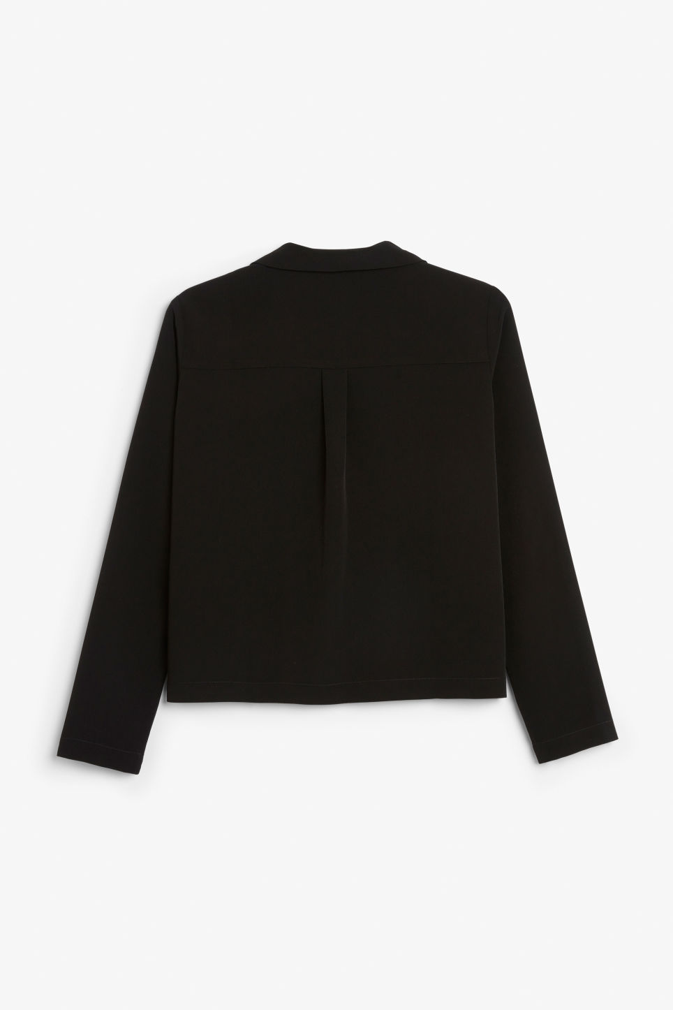 Back image of Monki double-breasted blouse in black
