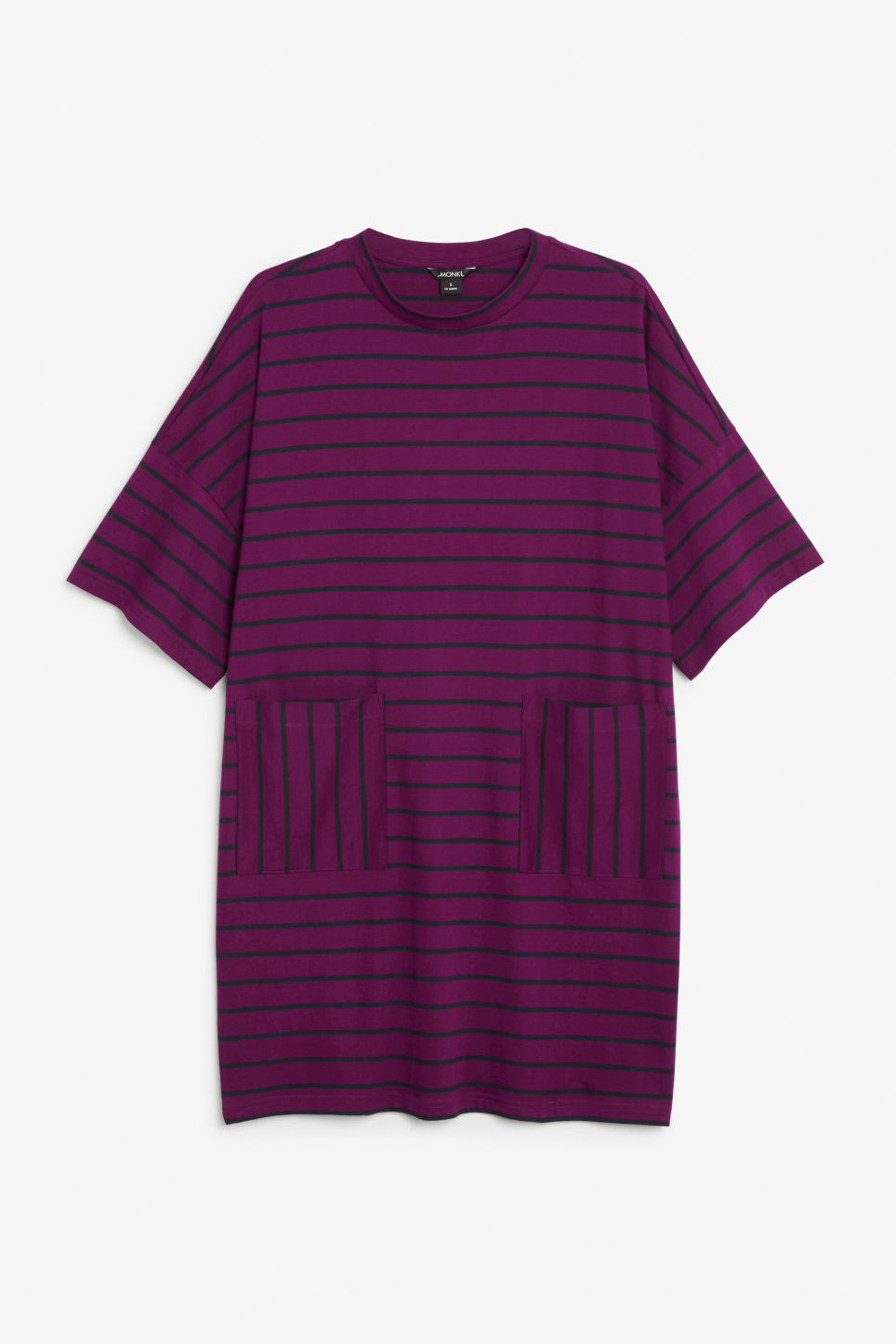 Front image of Monki wide t-shirt dress in purple