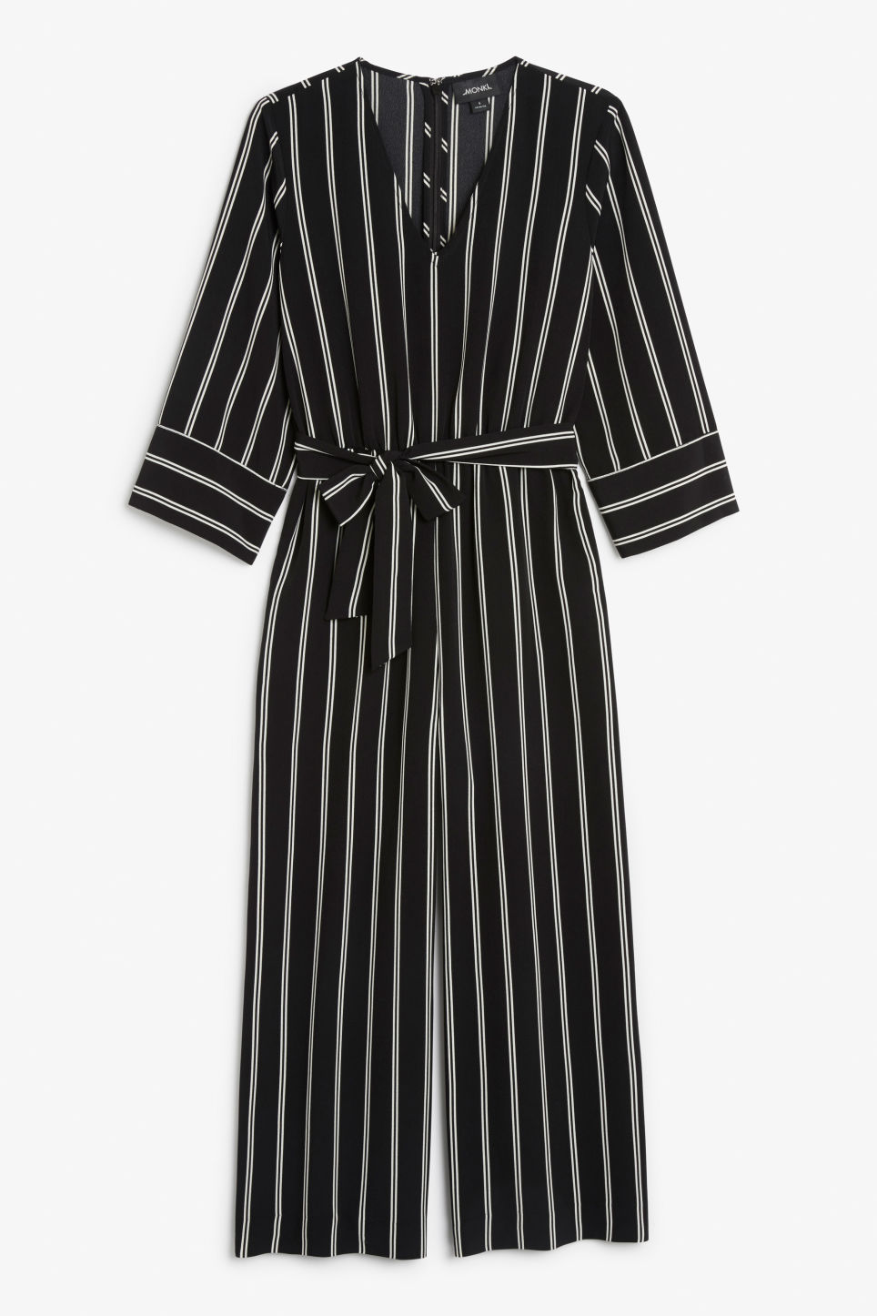 Front image of Monki v-necked jumpsuit in black