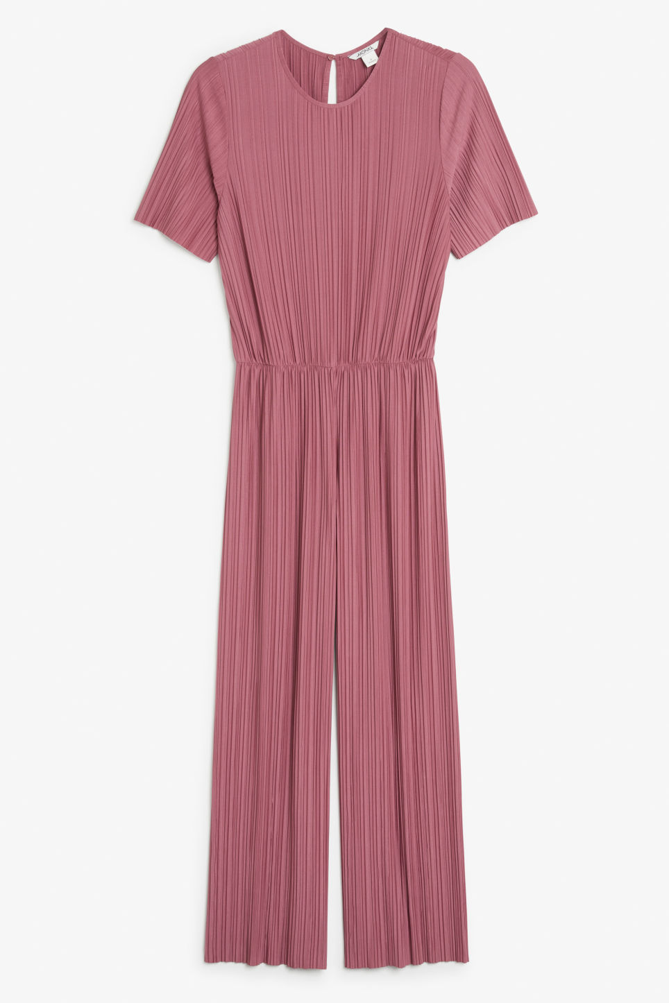 Front image of Monki pleated jumpsuit in pink