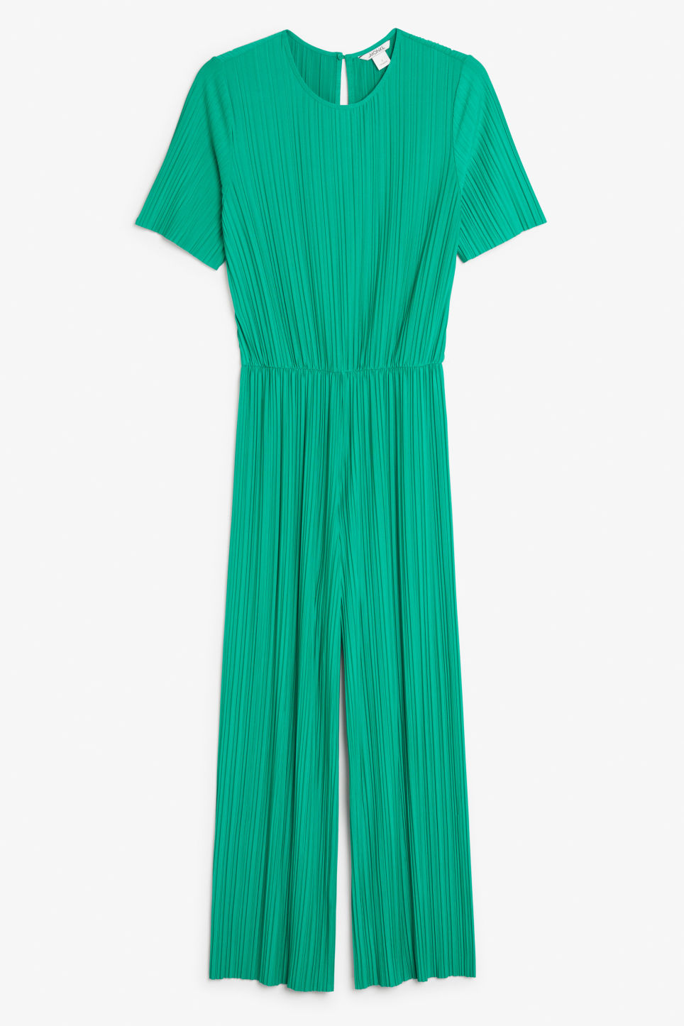 Front image of Monki pleated jumpsuit in green