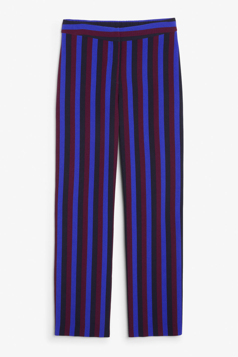 Front image of Monki sporty trousers in blue