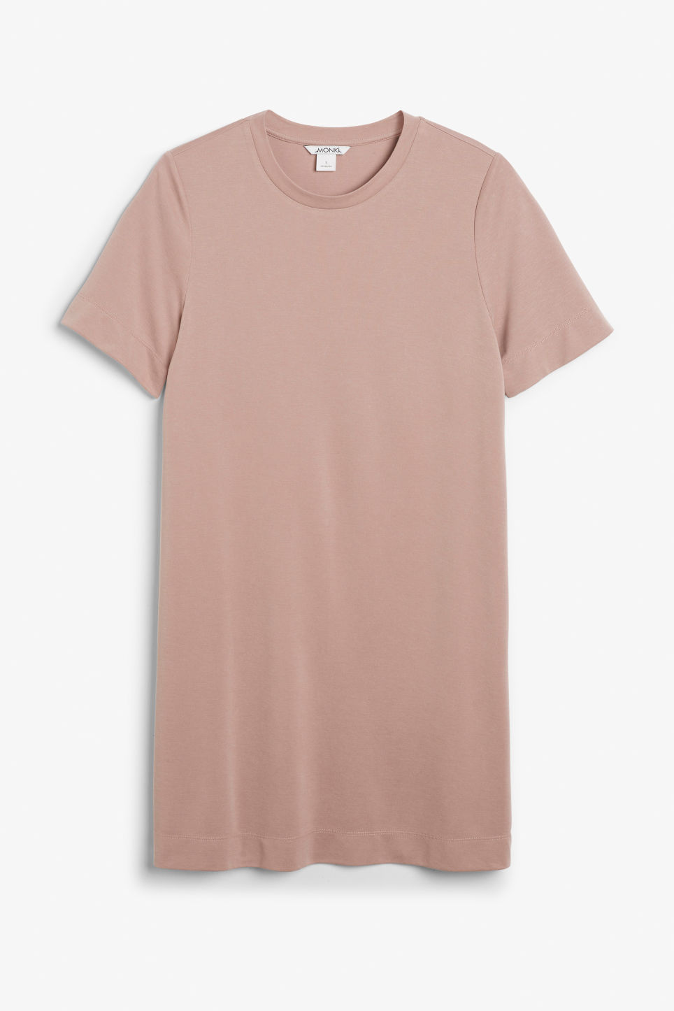 Front image of Monki super-soft t-shirt dress in orange