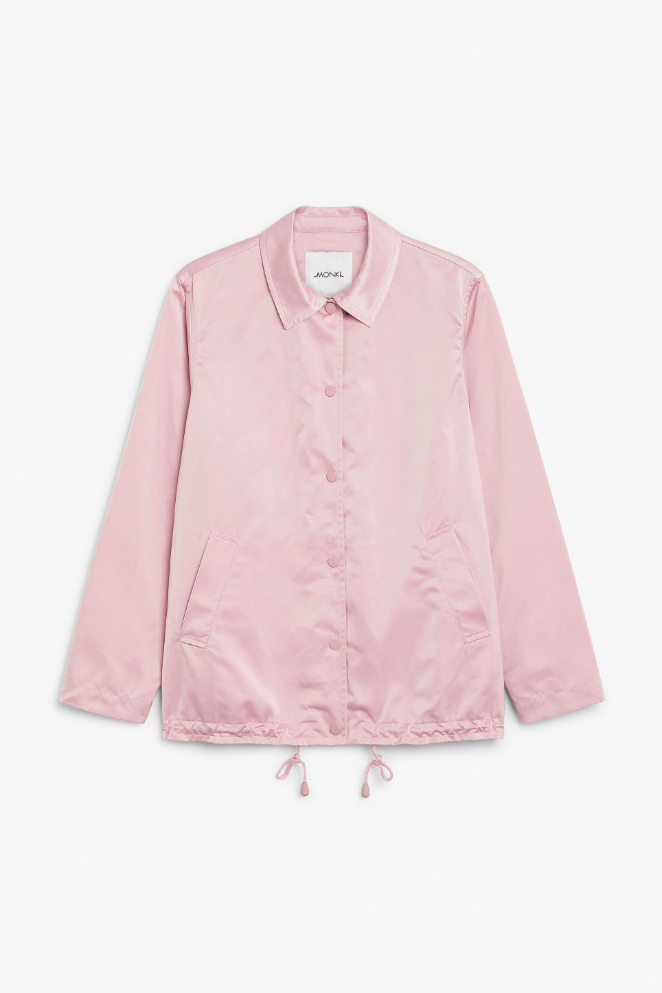 Front image of Monki 80s dream jacket in pink