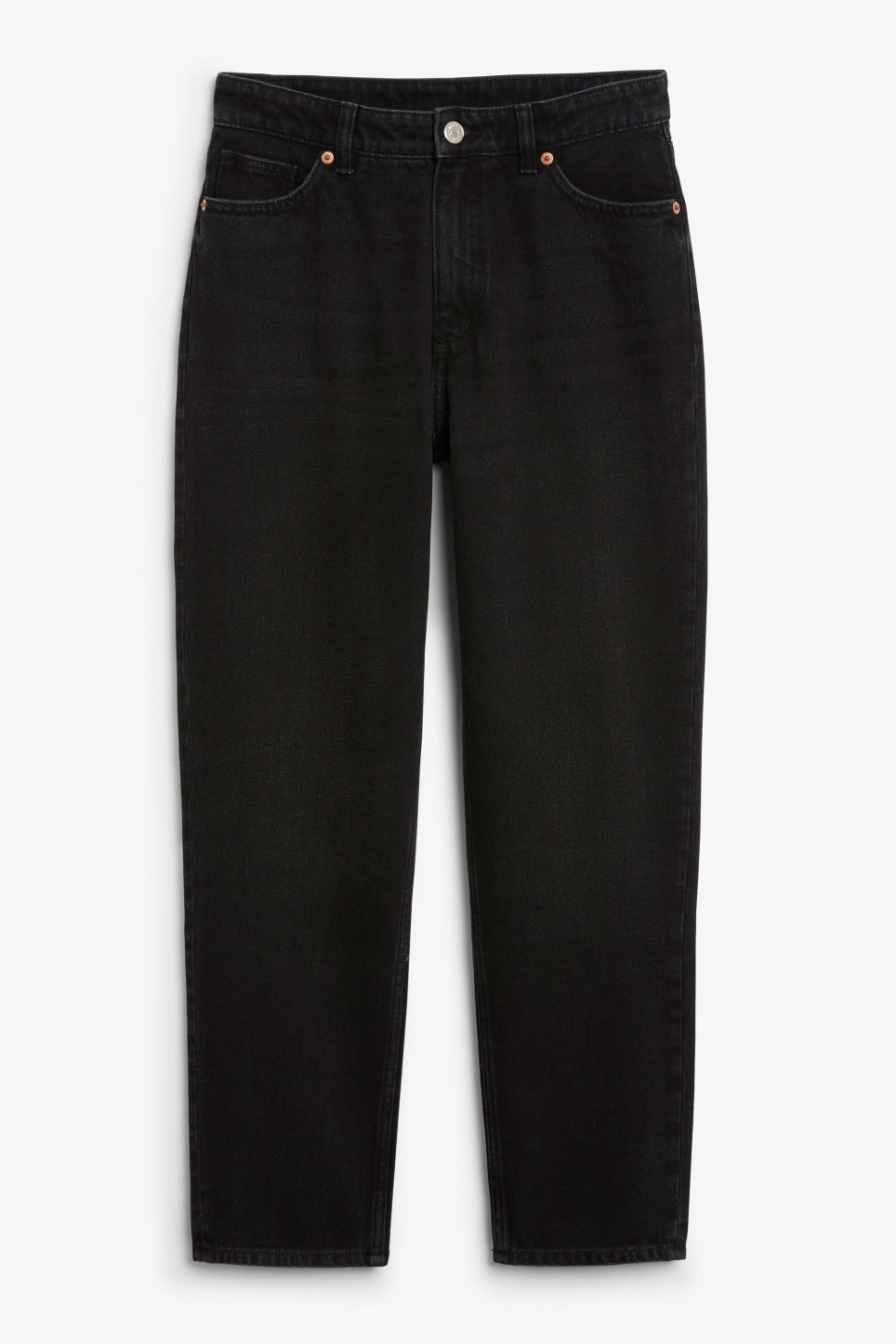 Front image of Monki taiki jeans x-long in black