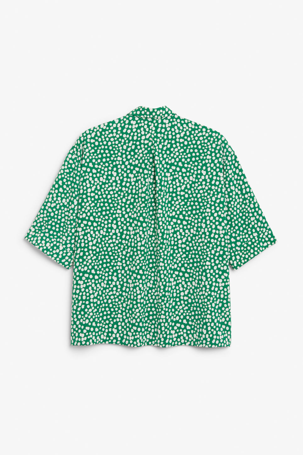 Back image of Monki oversized blouse in green