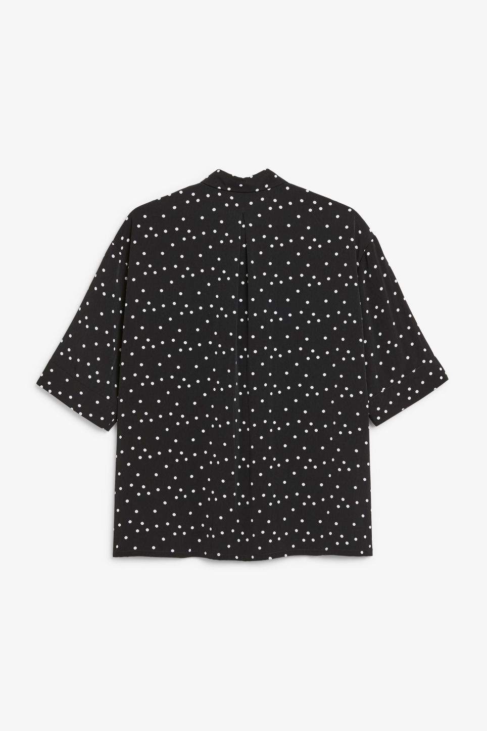 Back image of Monki flowy oversized shirt in black