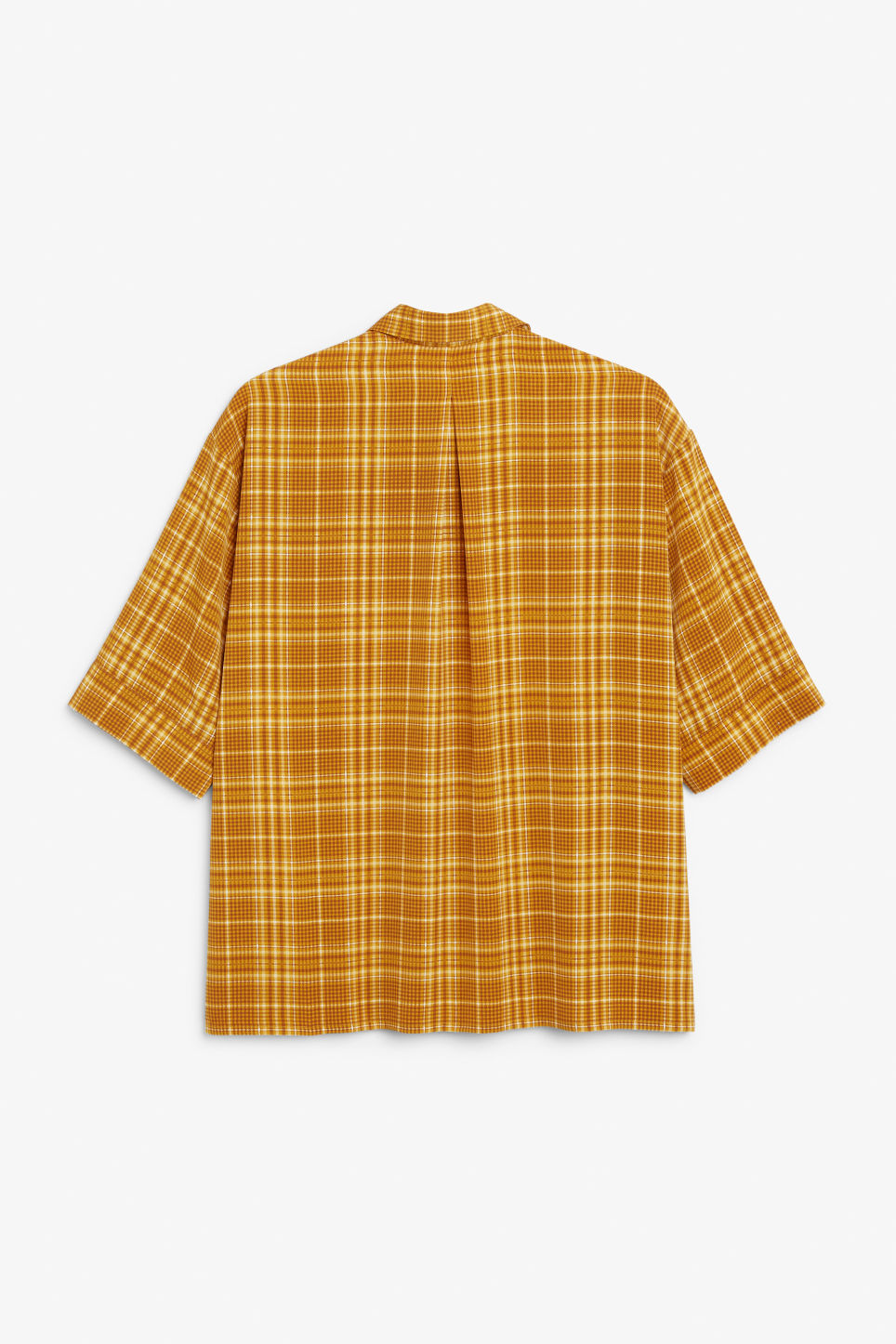 Back image of Monki flowy oversized shirt in yellow