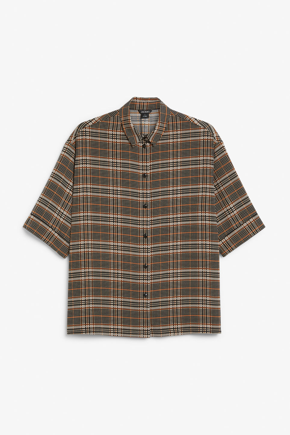 Front image of Monki flowy oversized shirt in beige