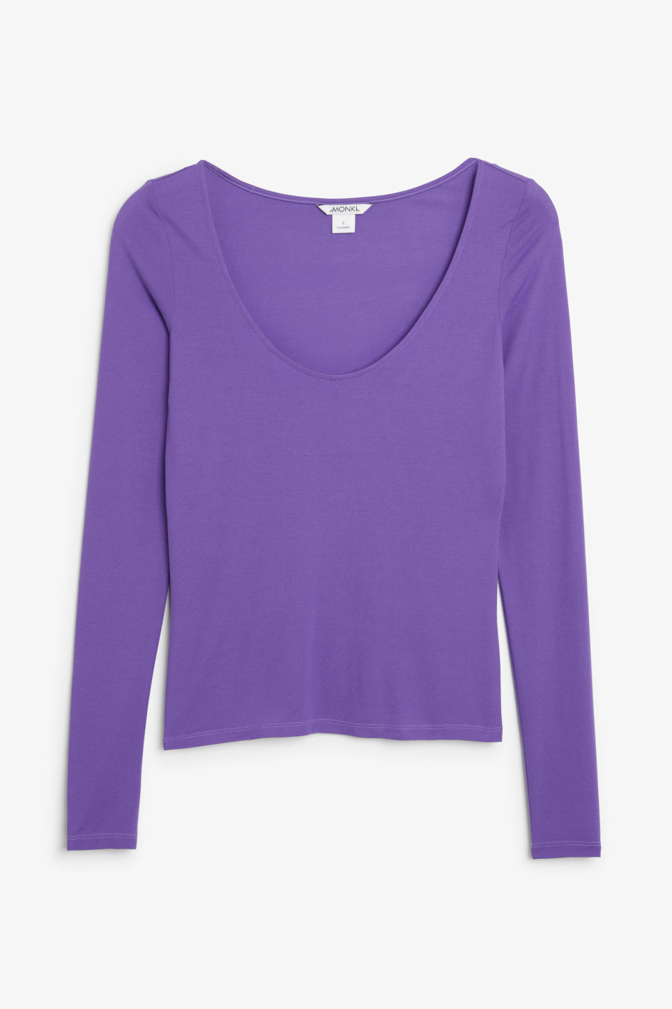 Front image of Monki deep neck top in purple
