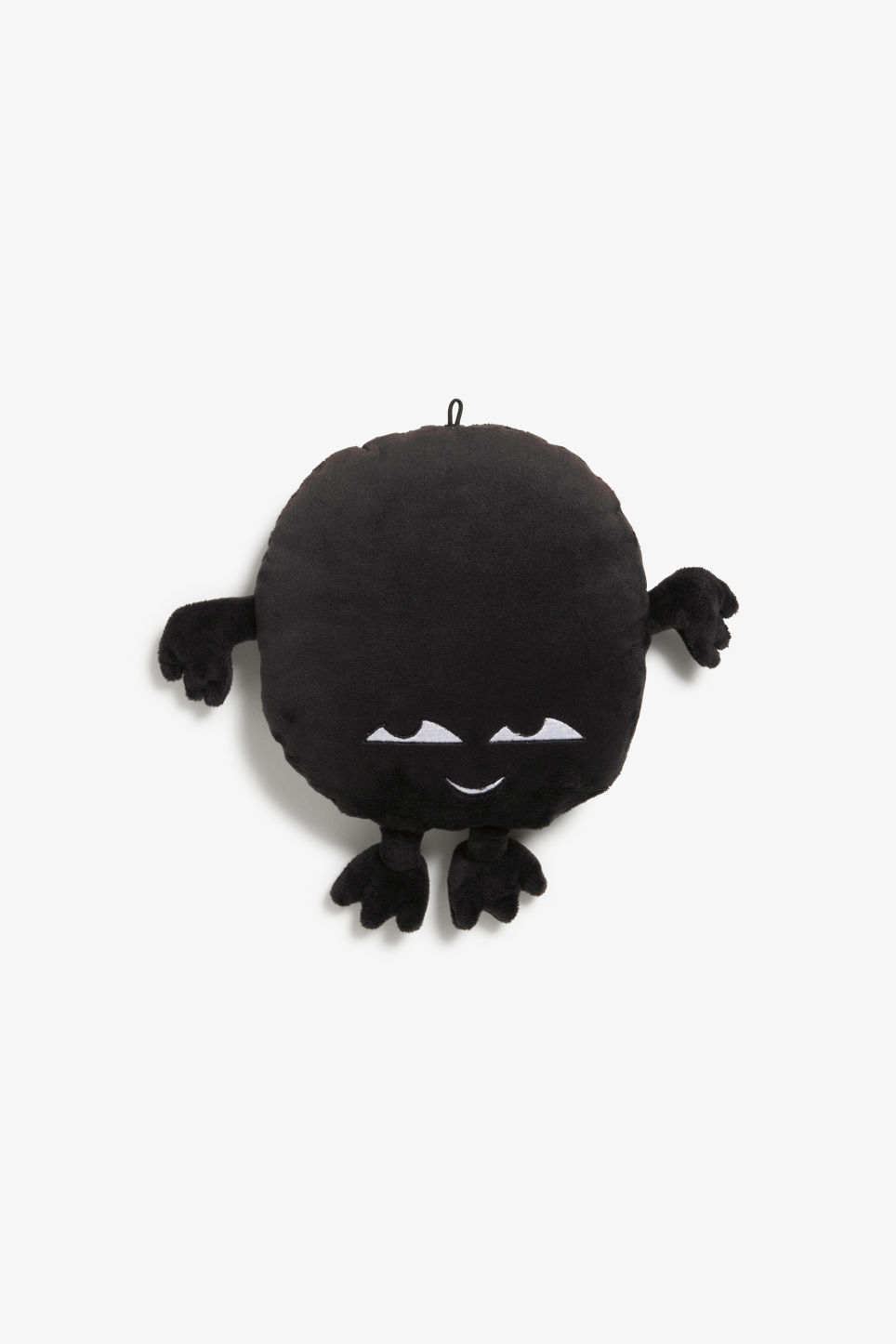 Front image of Monki monki mini cushion in black