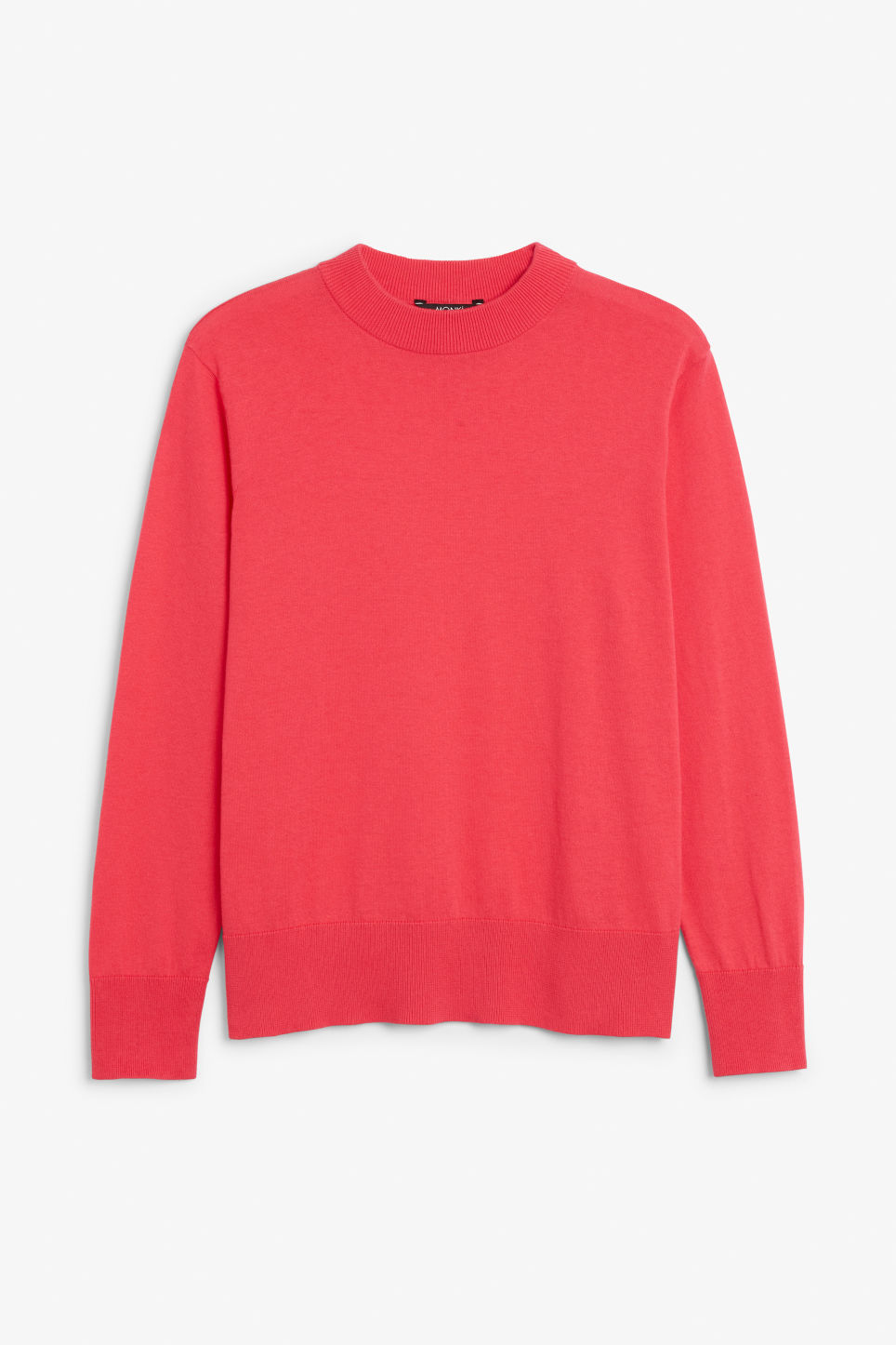 Front image of Monki soft knit sweater in pink