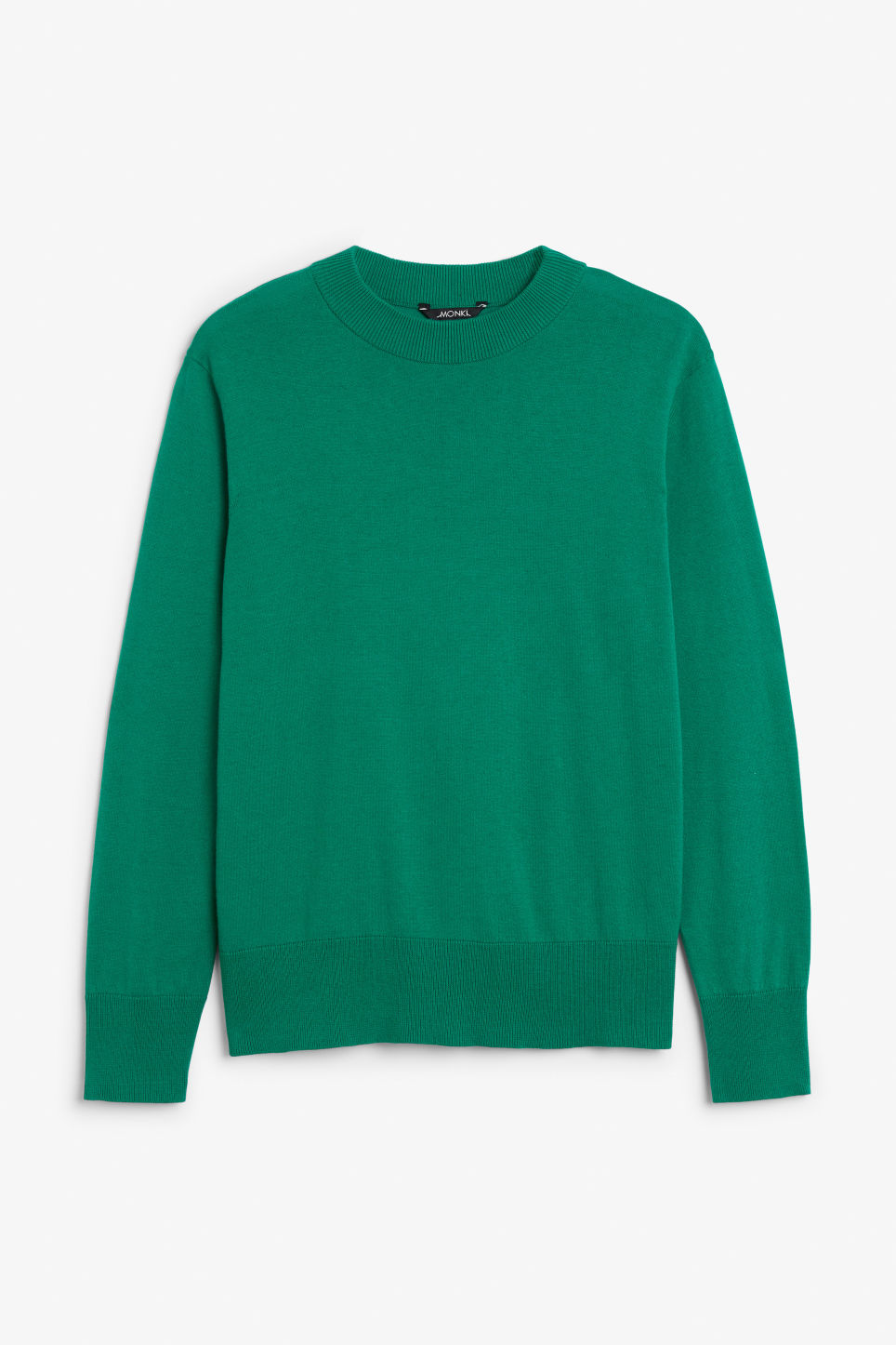 Front image of Monki soft knit sweater in green