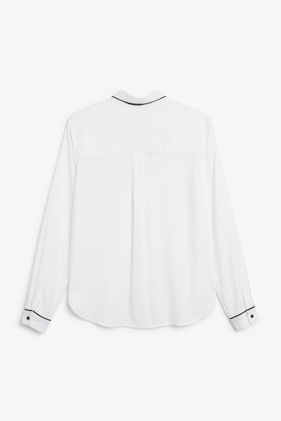 Back image of Monki soft button up blouse in white