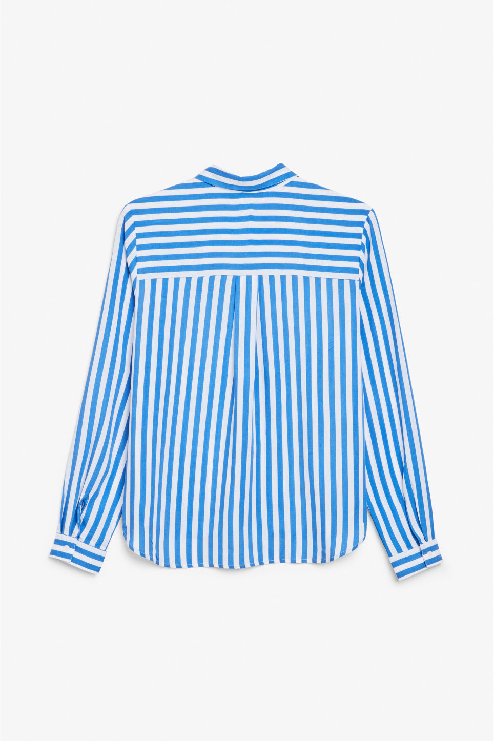 Back image of Monki soft button up blouse in blue