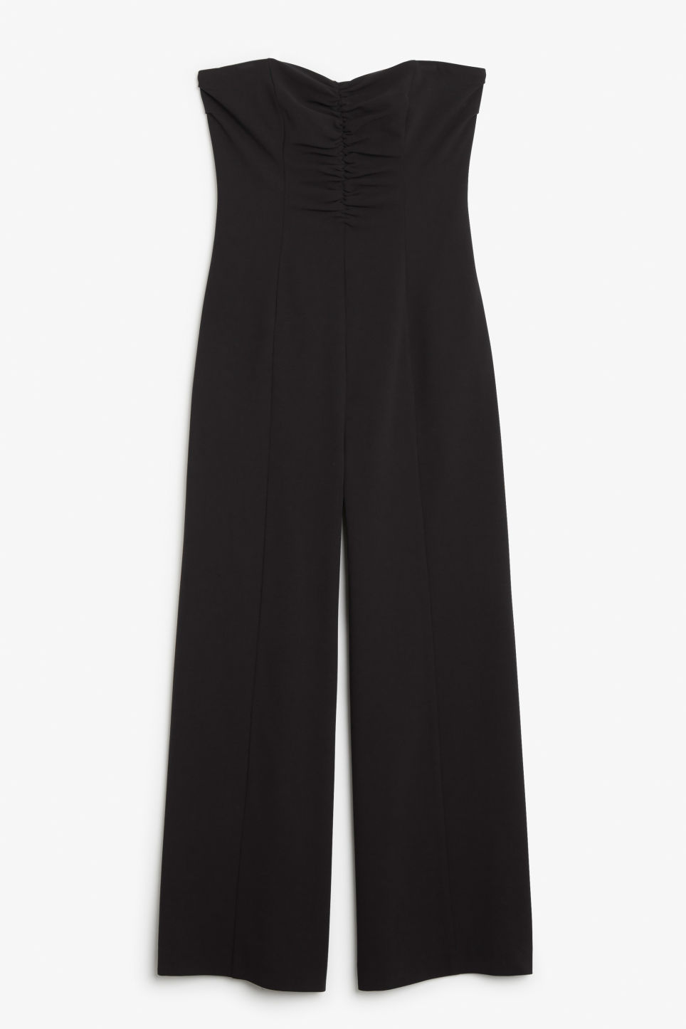 Front image of Monki strapless jumpsuit in black