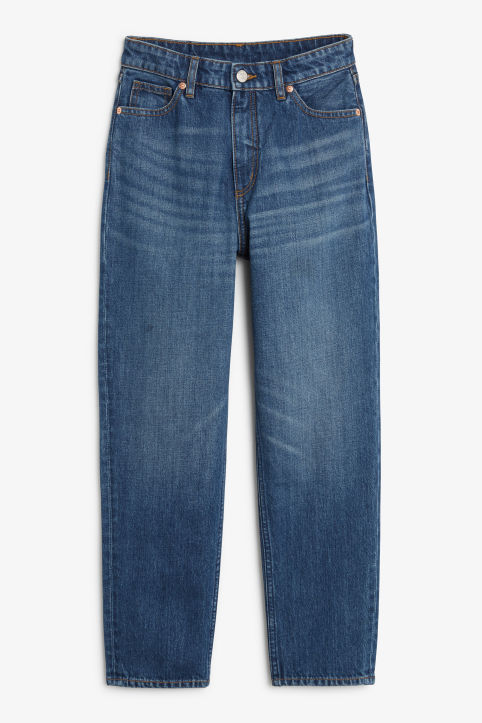 Front image of Monki taiki jeans classic in blue