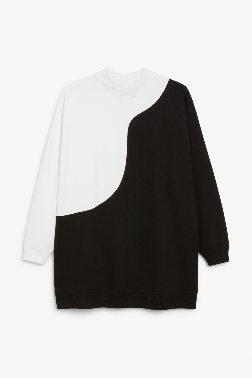 Front image of Monki oversized sweatshirt in white