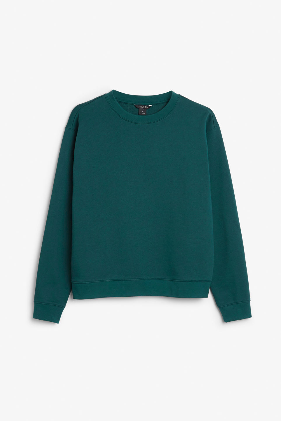 Front image of Monki soft sweat in green