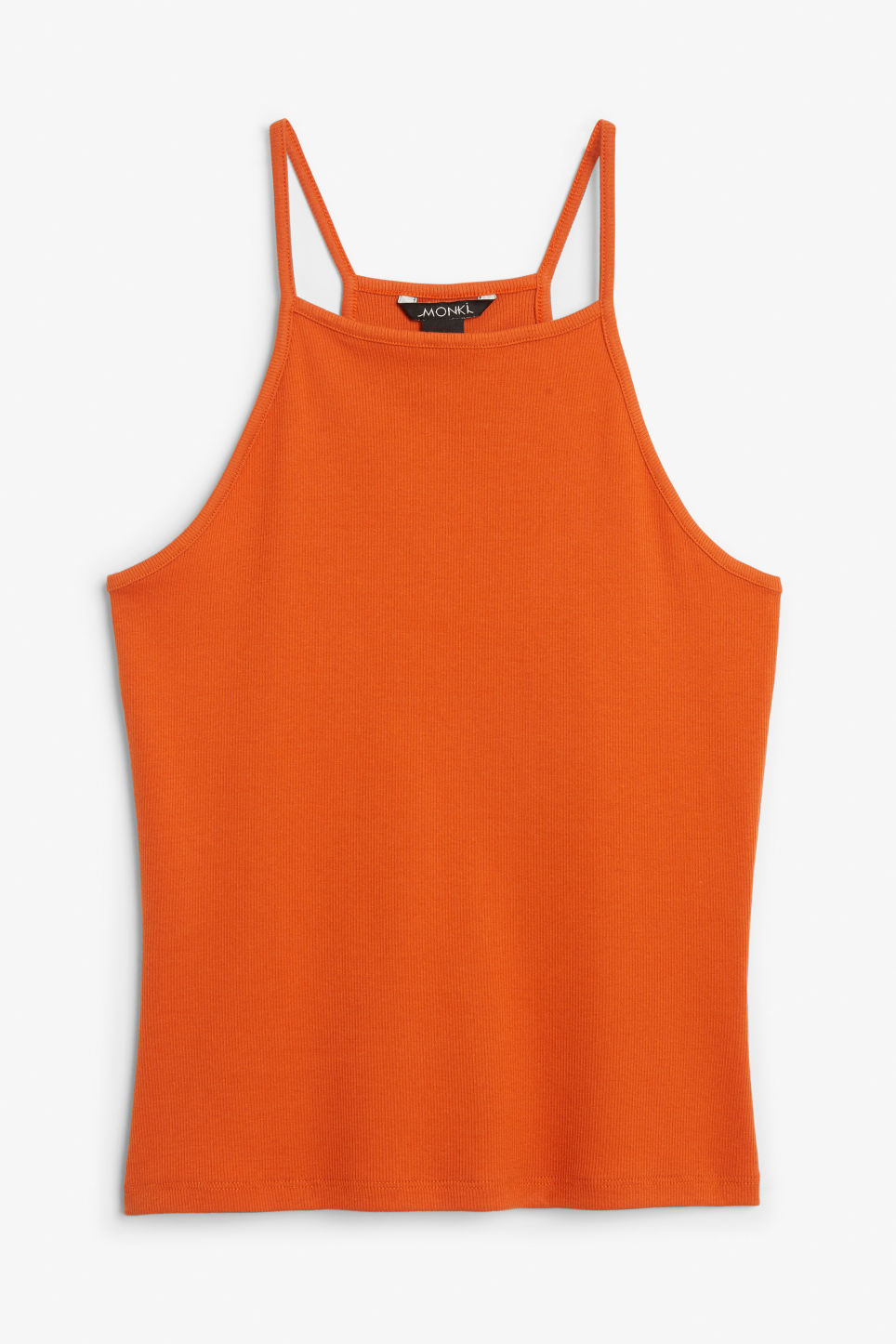 Front image of Monki cropped singlet in orange