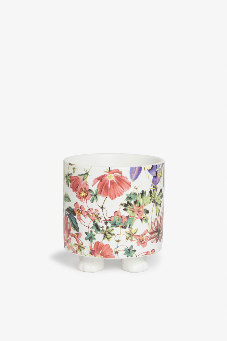 Front image of Monki pot with feet in pink