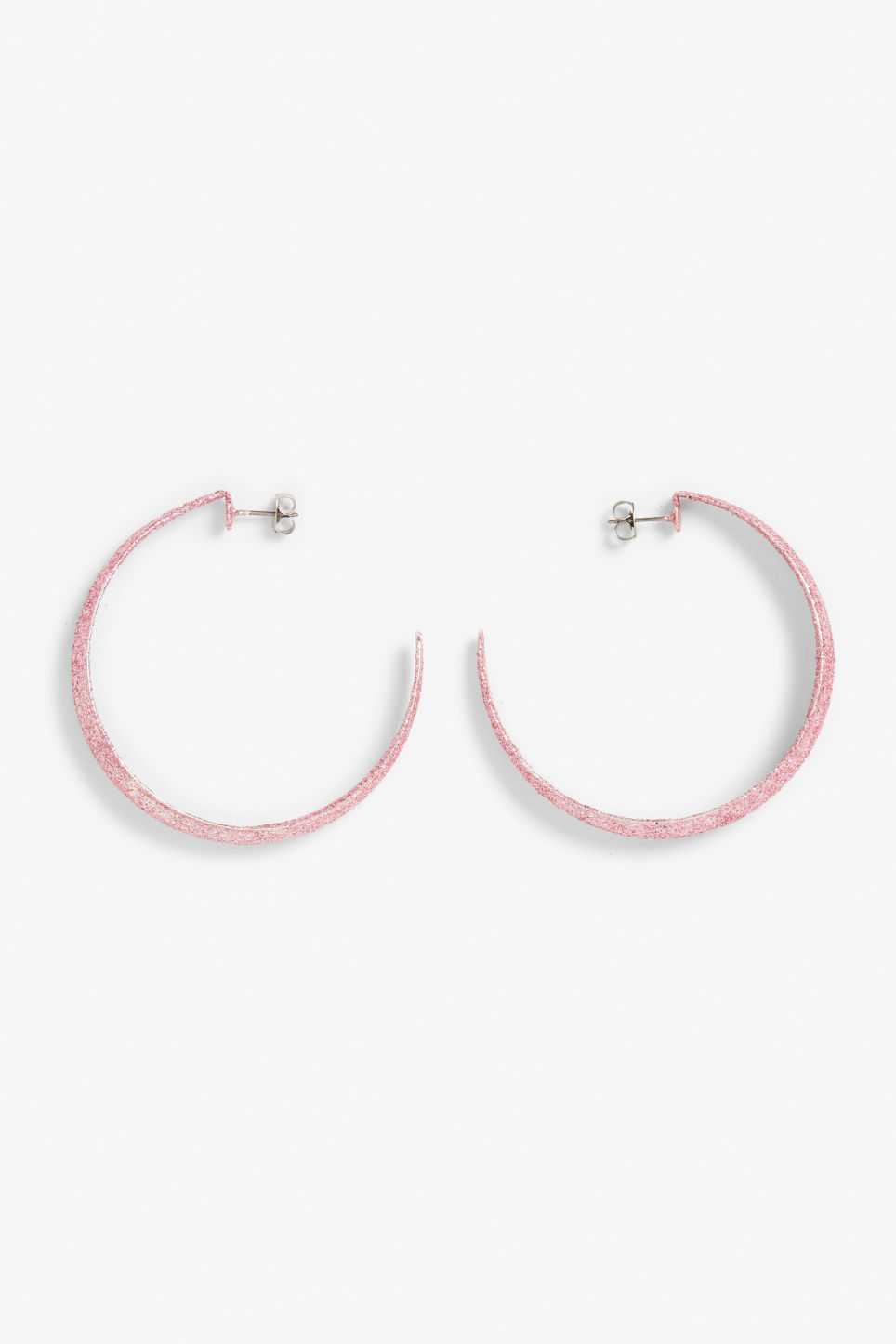 Front image of Monki pink hoops in pink