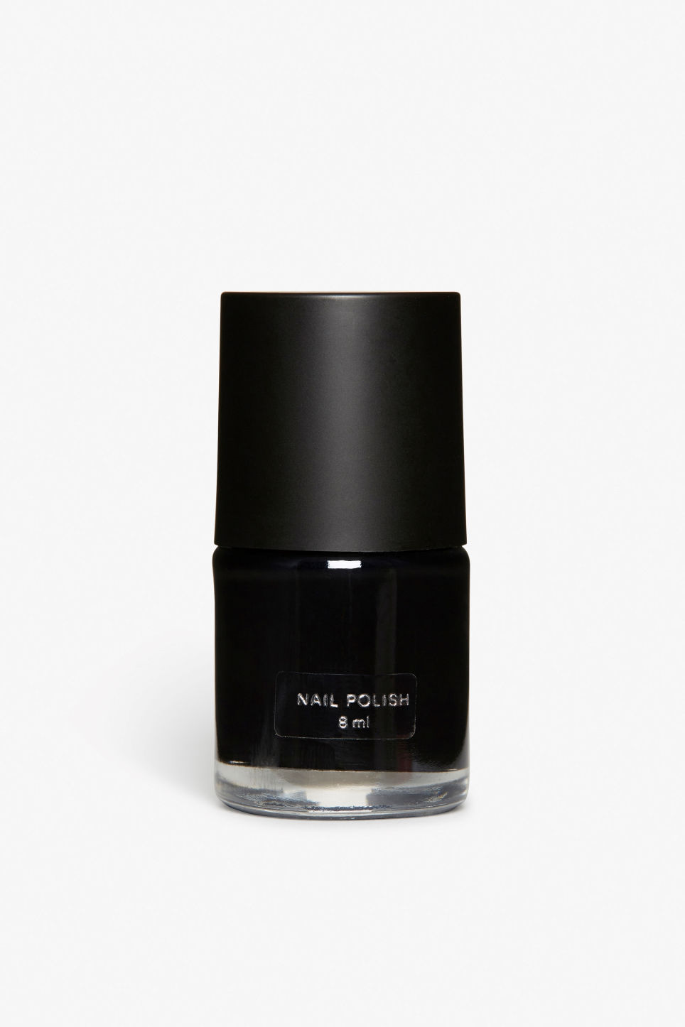 Front image of Monki monki nail polish in black