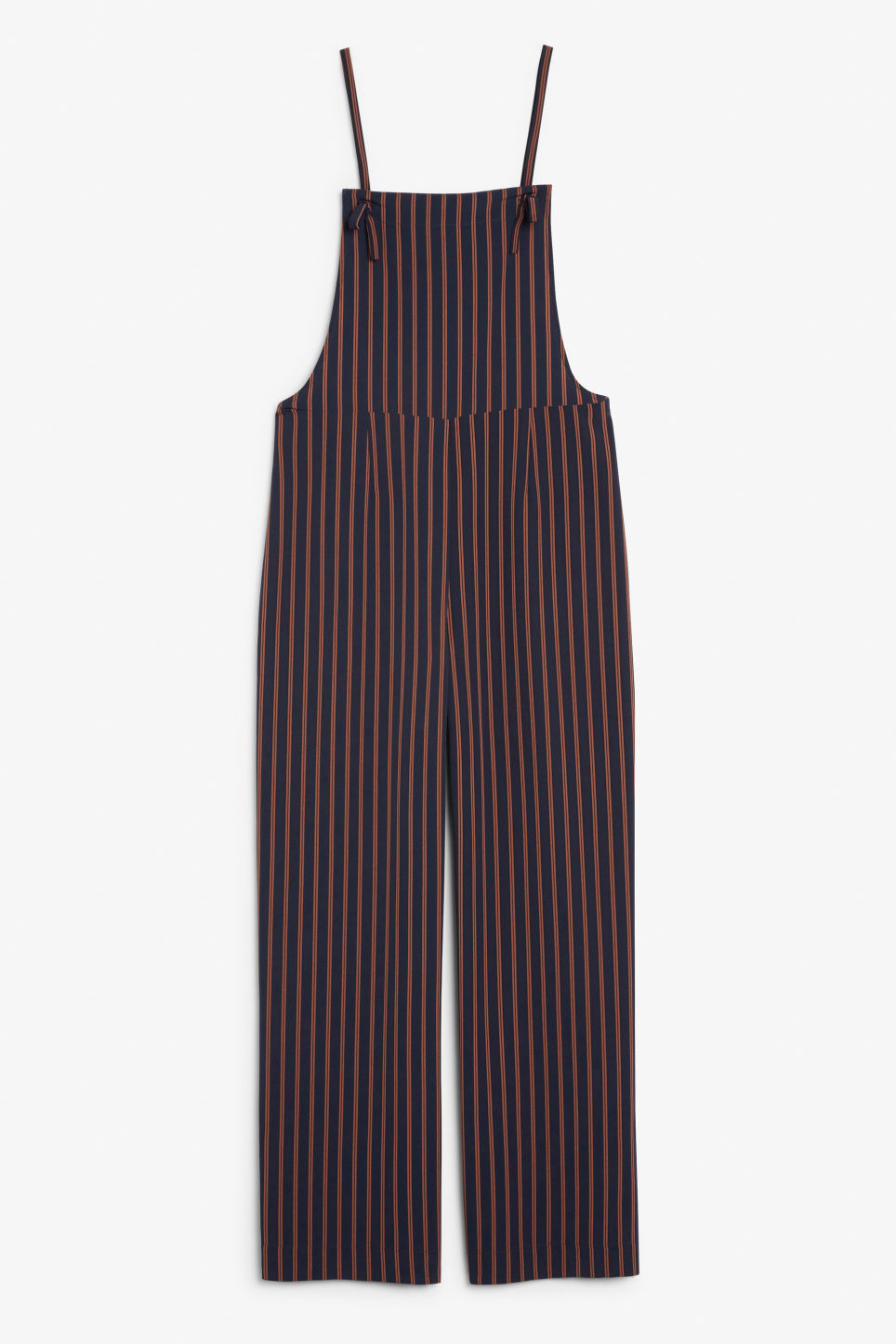 Front image of Monki flowy dungarees in blue