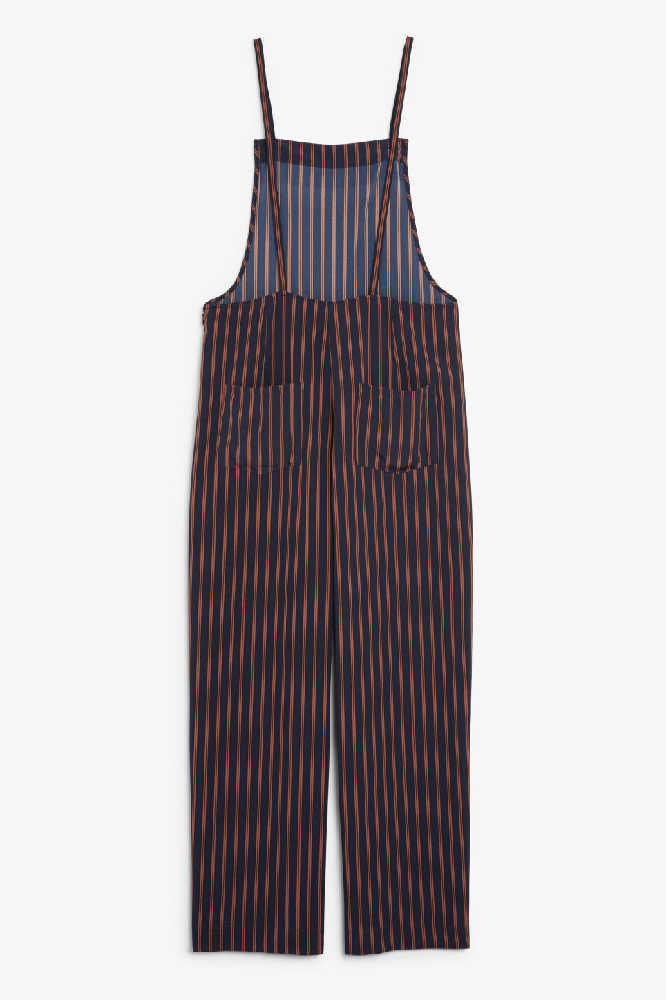 Back image of Monki flowy dungarees in blue