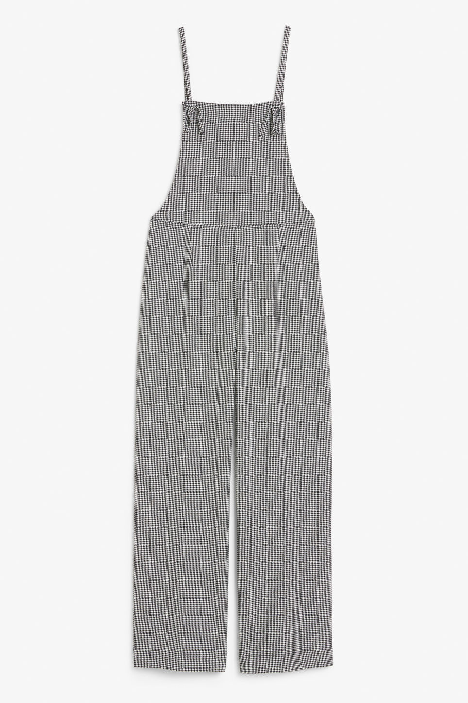 Front image of Monki flowy dungarees in white