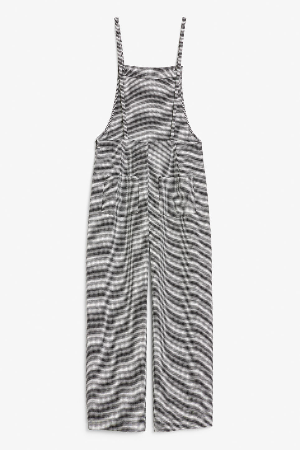 Back image of Monki flowy dungarees in white