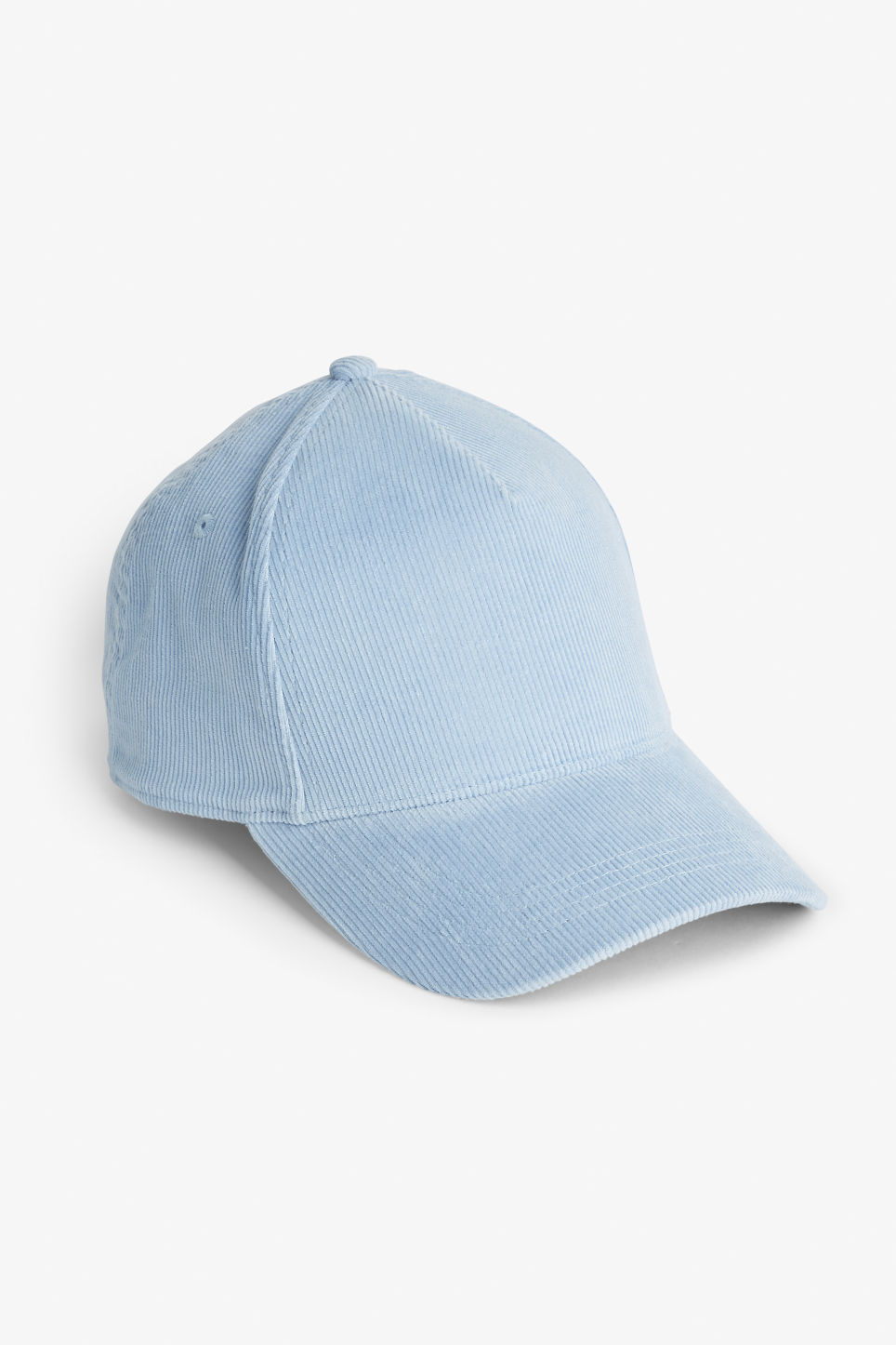 Front image of Monki baseball hat in blue