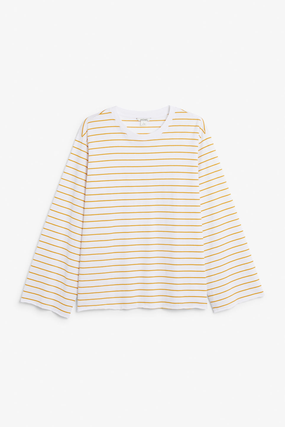 Front image of Monki wide sleeve top in white