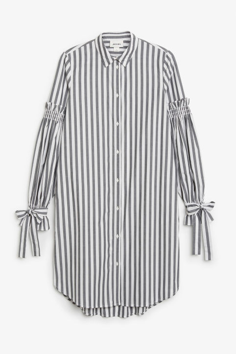 Front image of Monki shirt dress in white