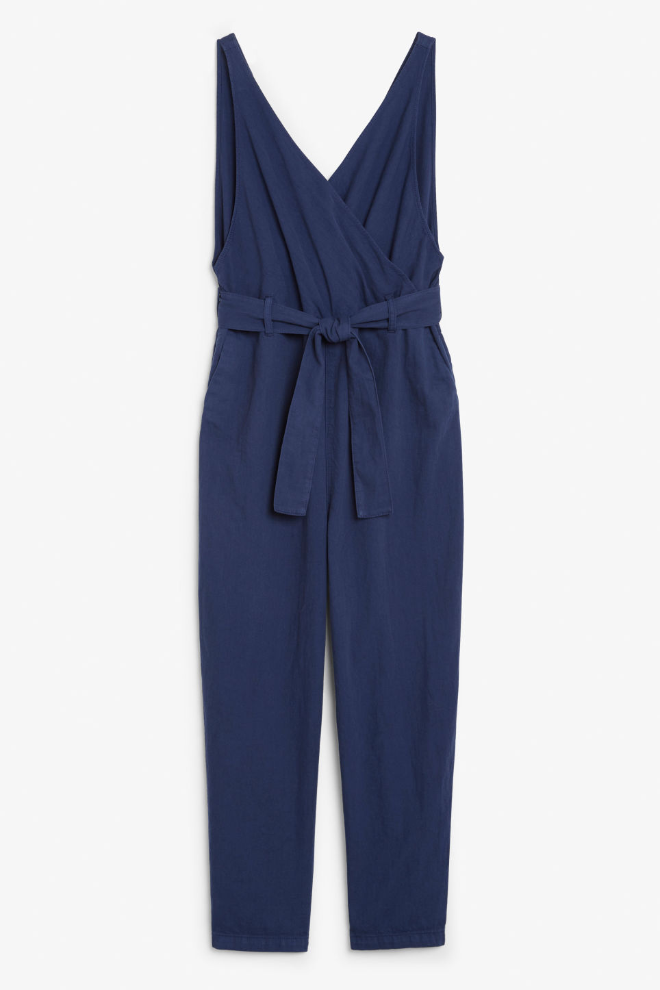 Front image of Monki denim jumpsuit in blue