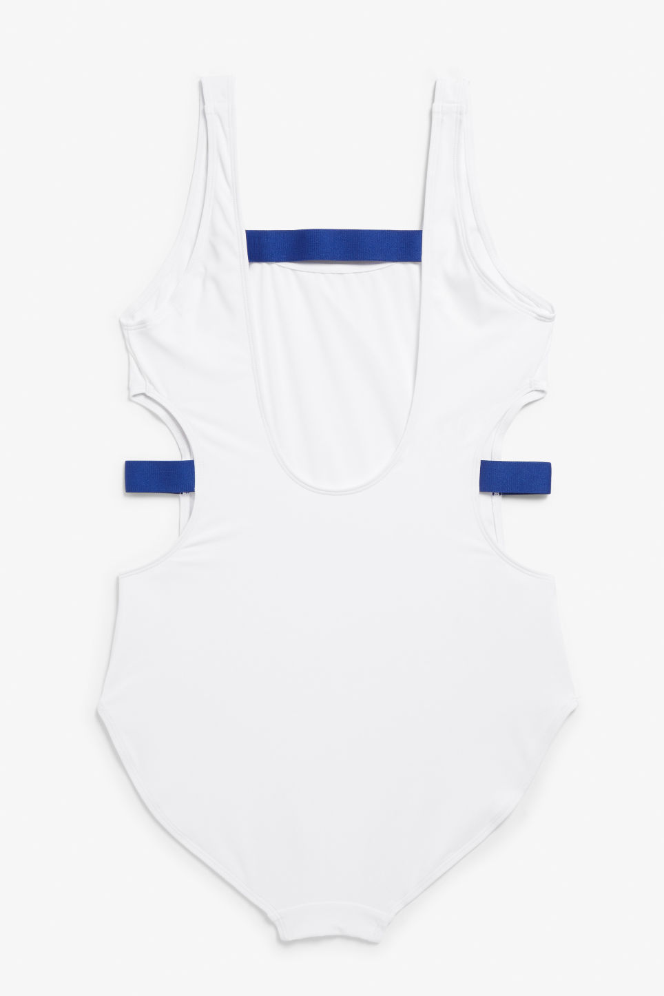 Back image of Monki cut-out swimsuit in white