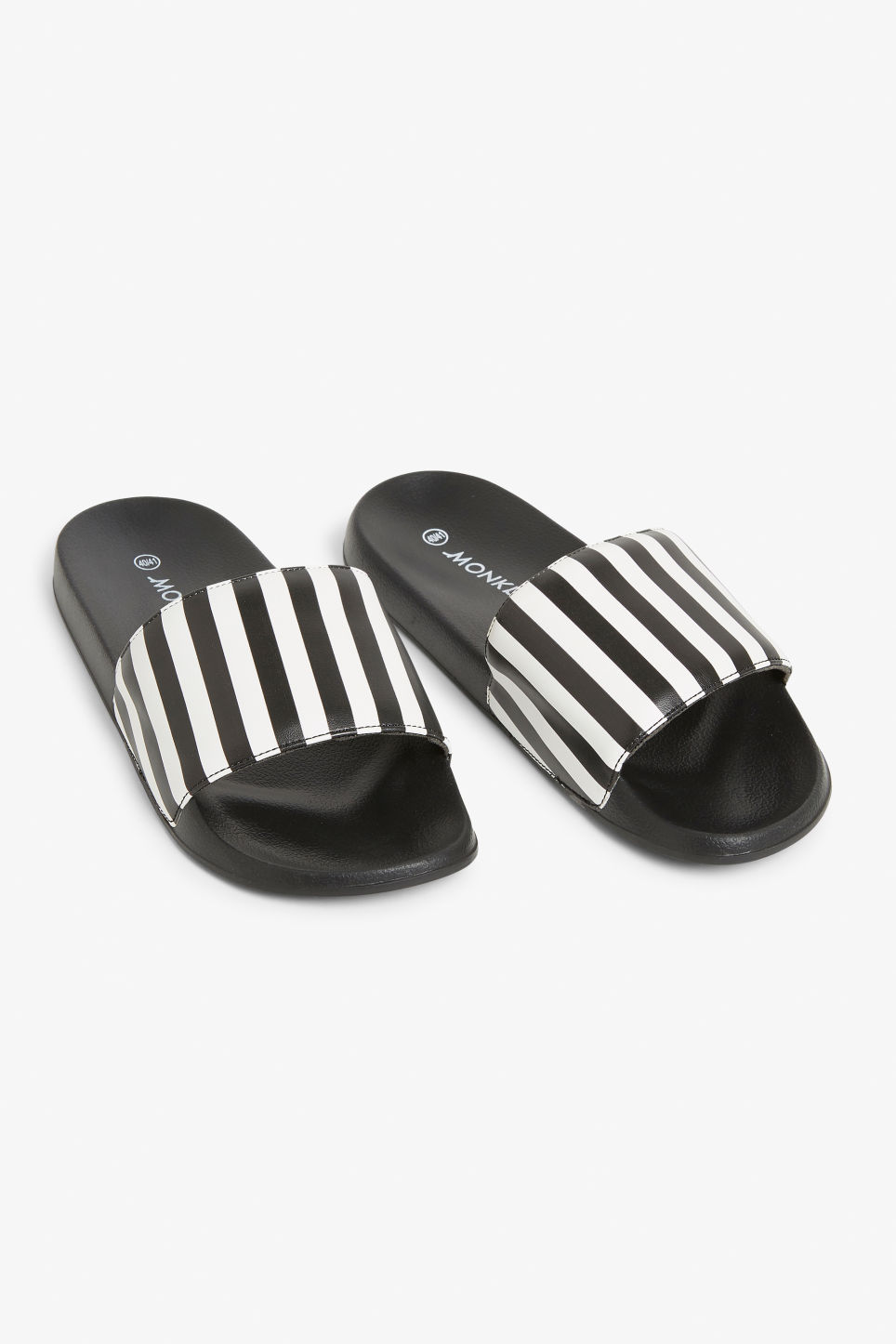 Front image of Monki beach sandals in white