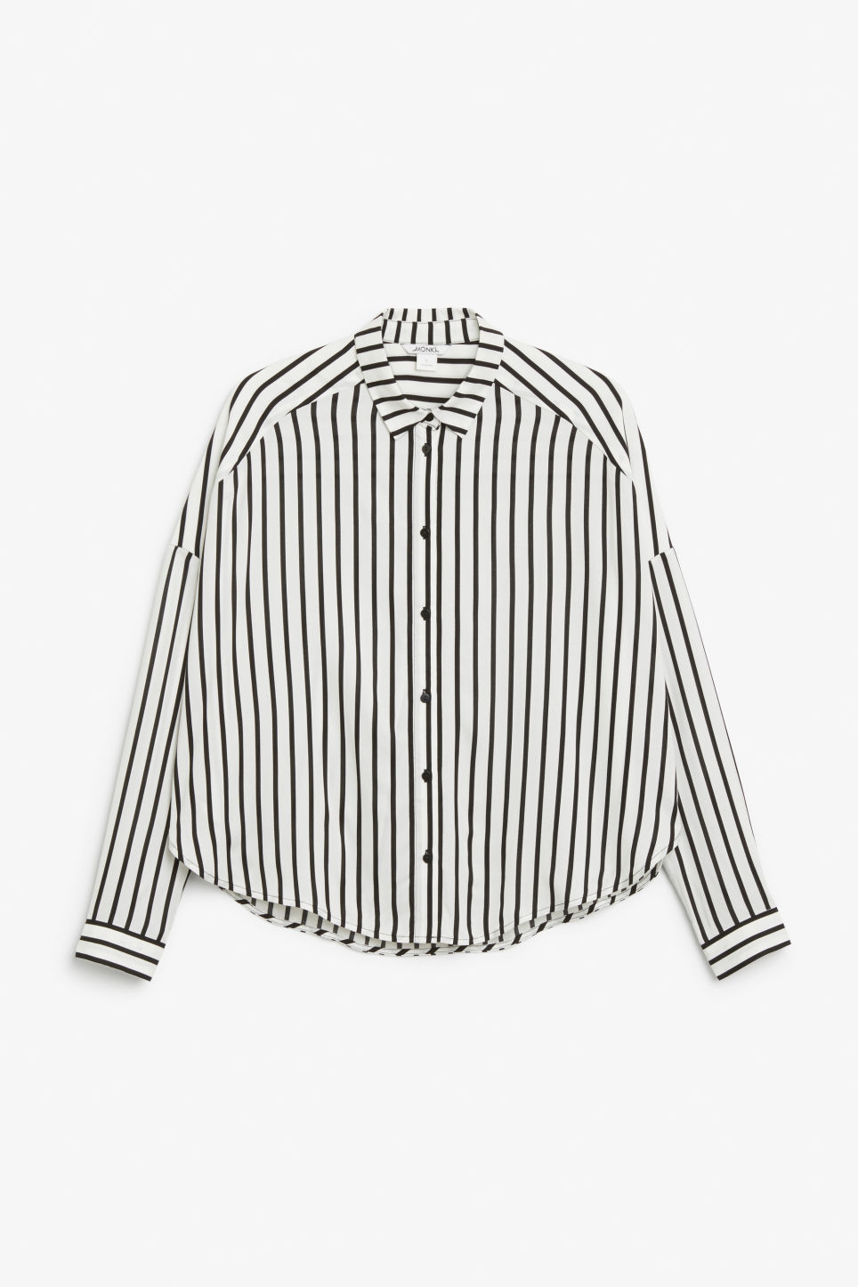 Front image of Monki oversize button down blouse in white