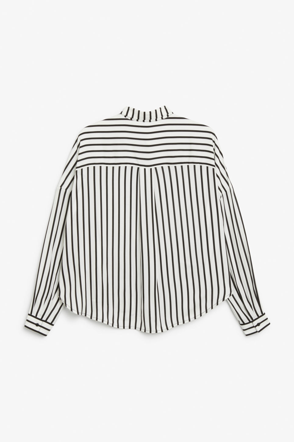 Back image of Monki oversize button down blouse in white